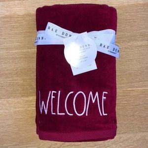 Rae Dunn Set of 2 Burgundy Hand Towels. Brand New.